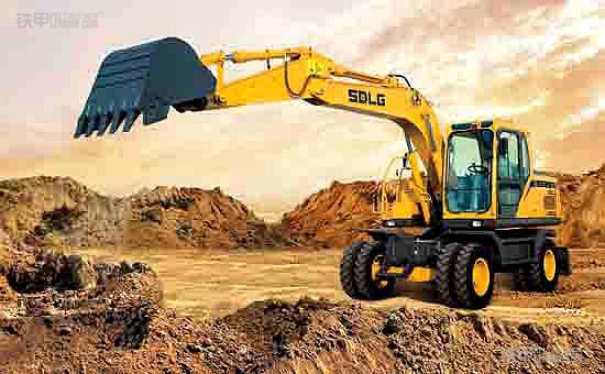 节能高效,临工150E轮式挖掘机
